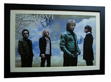 BON JOVI+SIGNED+FRAMED+PRAYER+ALWAYS+BRIDGES=100% AUTHENTIC+EXPRESS GLOBAL SHIP