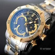 50mm Invicta Pro Diver Chronograph 18k Gold IP Tachymeter Black Dial Men's Watch