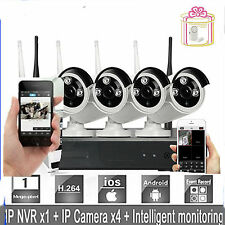 1TB HDD Wireless IP Camera 4CH 720P HD WIFI NVR Outdoor Network Security System