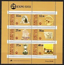Portugal 1983 MNH**Mi Blk 39 (1595-1600) Sc 1567-1572a sheet of 6 European Art