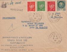 Lettre CaD Herbignac (Loire-Inférieure) Ilot De ST Nazaire 1944 Cover