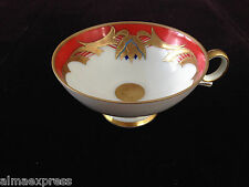 Vintage Hertel Jacob Leuchtenburg Kahla RED, Blue & Gold Embossed TEA CUP