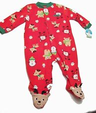 BRAND New Carters Blanket Footed Red MY FIRST CHRISTMAS Pajamas 6/ 9M