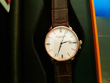 Stuhrling Prestige Men's Swiss Made Ronda 715 Leather Strap Watch