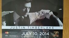Justin Timberlake Music Star  Poster New York City performance