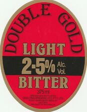 Australia Beer Label - Geelong Brewing Co., Moolap - Double Gold Light BItter