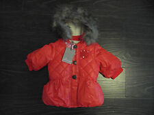 NWT Baby Girls Jean Bourget Designer Puffer Coat size 6 months