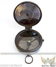ANTIQUE STYLE SOLID BRASS KELVIN AND HUGES LONDON COMPASS WITH 100 YRS CALENDAR