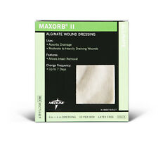 "Maxorb II Alginate Wound Dressings by Medline: 4"" x 4"" - Box of 10"