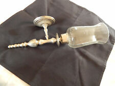 Wall Sconce Candle Holder, metal base with glass globe
