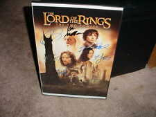 THE LORD OF THE RINGS cast SIGNED auto FRAMED  MOVIE PHOTO POSTER ~ELIJAH WOOD++