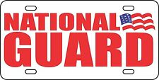 National Guard Aluminum License Plate Car Tag Army Proud Wife Military Support