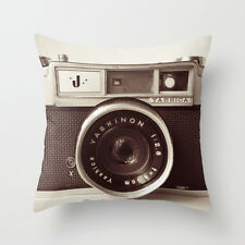 Cushion Pillow Cover Vintage Camera 18'*18'home decor