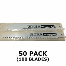 MAKITA RECIPROCATING SAW BLADES - 50 PACKS OF 2 - METAL & WOOD CUT 150mm BJR182