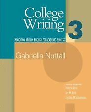 College Writing 3 (Houghton Mifflin English for Academic Success) (Bk. 3) by Ga