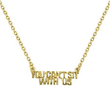 Lux Accessories You Can't Sit With Us Cant Not Cool Pendant Charm Necklace