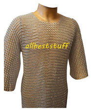 Butted ChainMail Shirt Aluminum Chainmail LARP, SCA, Silver Anodizing A1