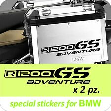 2 Adesivi Stickers BMW R 1200 gs valigie adventure R GS