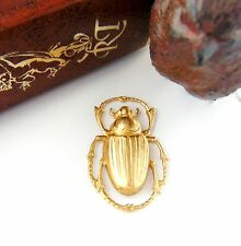 BRASS Egyptian Scarab Beetle Stamping ~ Brass Finding (C-405)
