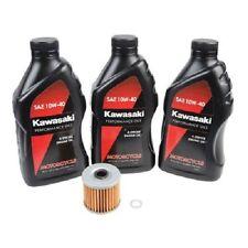 Oil Change Kit KAWASAKI KLR650 1987-2015 3 Quarts Kawasaki 10W-40 Oil And Filter