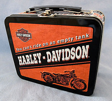"NEW HARLEY DAVIDSON MOTORCYCLE LUNCH BOX PAIL COLLECTIBLE  6 1/2"" x 5 1/2"" x 3"""