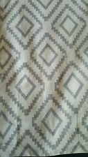 New 2 Tommy Hilfiger Mission Diamond Lake Cream Grey Window Curtain Panels 96