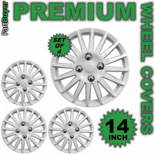 "Kappa White 14"" WHEEL TRIMS/HUB CAPS Covers Universal SET OF 4"