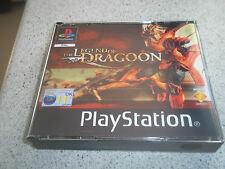 THE LEGEND OF DRAGOON.BIG BOX PAL PS1 .REPLACEMENT CASE+INLAYS ONLY.NO GAME