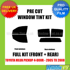 TOYOTA HILUX PICKUP 4-DOOR 2005-2008 FULL PRE CUT WINDOW TINT KIT