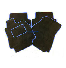 FIAT STILO (02 +) TAILORED TAILORED BLACK CARPET MATS+ SONIC BLUE EDGING
