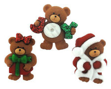 Xristmas Teddy Bears Novelty Buttons/Plastic Sewing supplies/Party Supplies