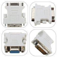 2x DVI-D 24+1 Male to VGA Female M/F Adapter Connectors For Monitor AV Cable LCD