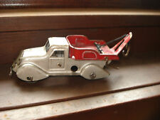 Antique Marx Pressed Steel Tow Truck Wrecker 5 inches long Vintage Collectable