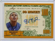 2012-13 Bradley Beal Leaf Signature Series GOLD SO MONEY #D 6/25 (F75)