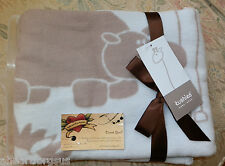 KUSHIES BABY BLANKET SAFARI JUNGLE ANIMALS BLUE HIPPO LION ALL PURPOSE SWADDLE