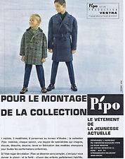 PUBLICITE ADVERTISING 064 1961 PIPO le vêtement de la jeunesse