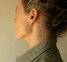 Oversized Gold Hoop Earrings. Extra Large Hoops 4 inch, Giant, Lightweight, Sexy