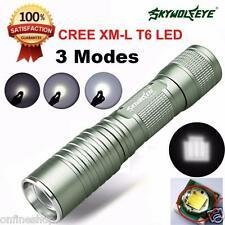Focus 4000 Lumens 3 Modes Zoomable CREE XML T6 LED 14500 Flashlight Torch Lamp