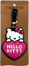 """3X4"""" HELLO KITTY pink heart pink bow suitcase ID Travel Baggage LUGGAGE TAG"""