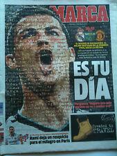 2012/13 Real Madrid v Manchester United Ch Lge  Marca paper day of game