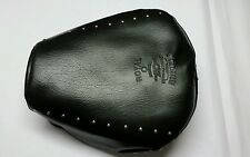 Black Motorcycle Bike Seat Cover Silver Beat - Royal Enfield Classic 350 500....