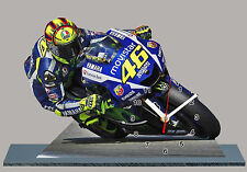 MODEL CARS, MOTO GP, VALENTINO ROSSI -2015, YAMAHA -09 with Clock aluminium