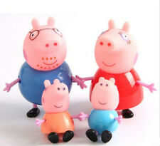 Hotsale!!! 4PCS Peppa Pig Family Daddy Mummy Playset Toys Birthday Xmas Gift!!!