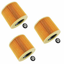 3x Karcher A2004 A2054 A2024 WD 3.200 Compatible Wet & Dry Vacuum Cleaner Filter