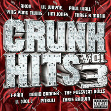 VARIOUS ARTISTS-Crunk Hits Vol 3 CD-Akon,LL Cool J,Lil Wayne,Ying Yang Twins