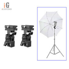 2pcs B Type Hotshoe Flash Flashgun Speedlite Bracket Umbrella Holder Light Stand