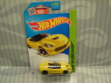2015 HOTWHEELS ''HW WORKSHOP'' #216 = `14 CORVETTE STINGRAY = YELLOW  us