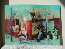 1966 THREE LITTLE PIGS BIG BAD WOLF 3D WALT DISNEY  MADE IN JAPAN OLD POSTCARD