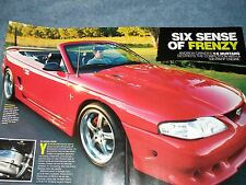 """1996 Ford Mustang Convertible Article """"Six Sense of Frenzy"""" Procharger equipped"""