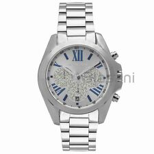 Michael Kors Original MK6320 Womens Bradshaw Silver Stainless Steel Chrono Watch